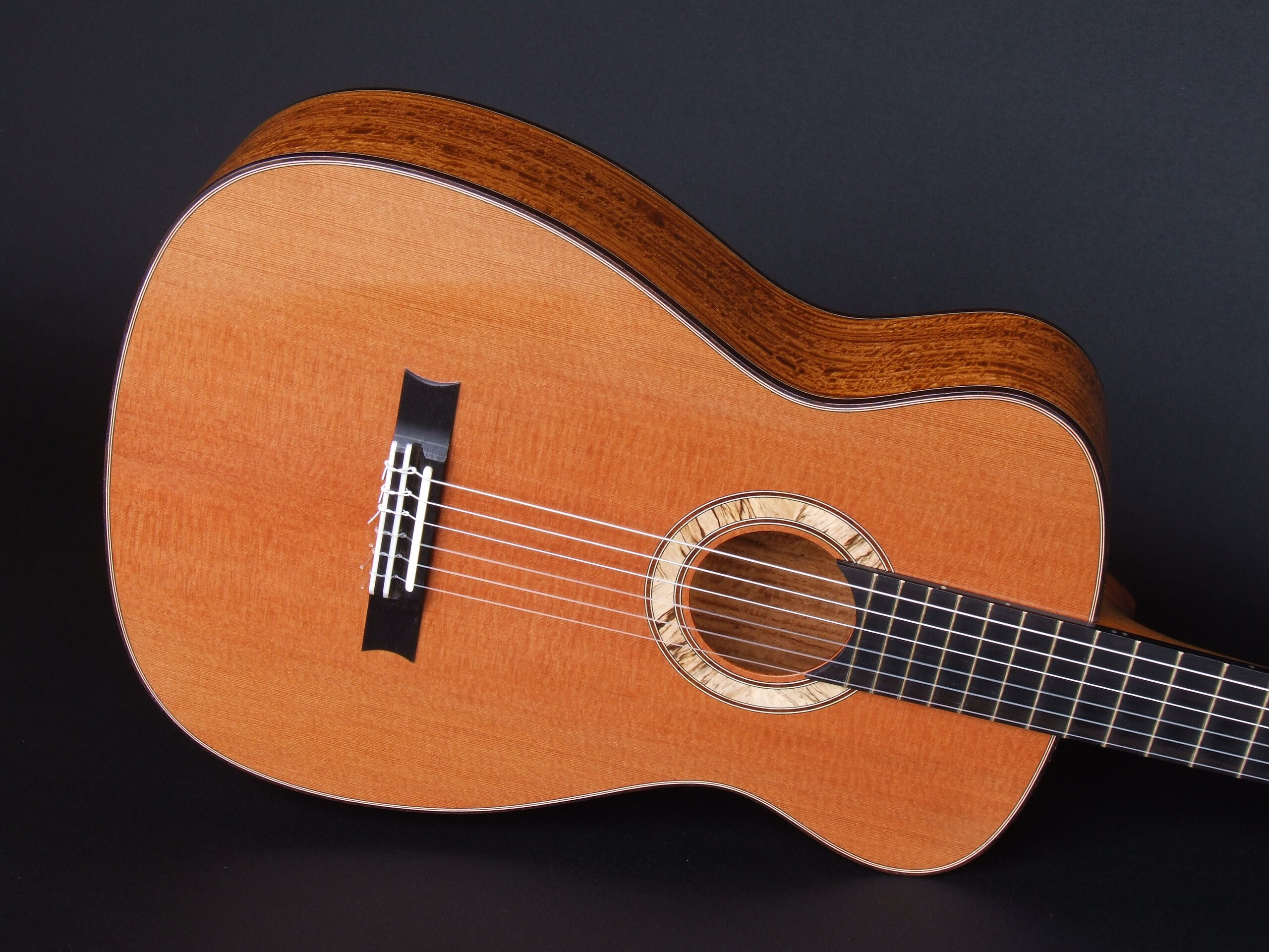 Neo-classical guitar with redwood top and spalted blackwood rosette
