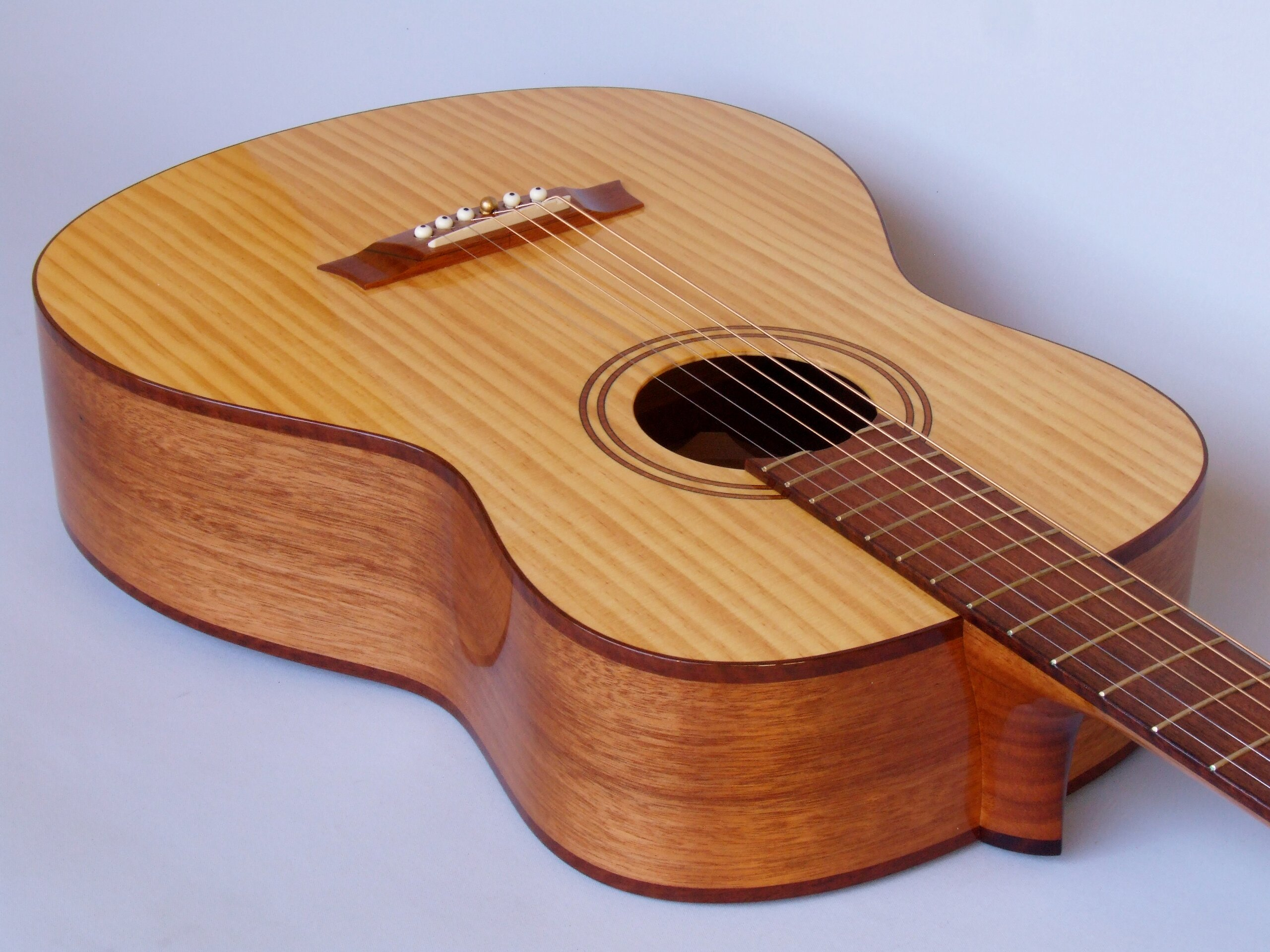 The Shed guitar with radiata pine top