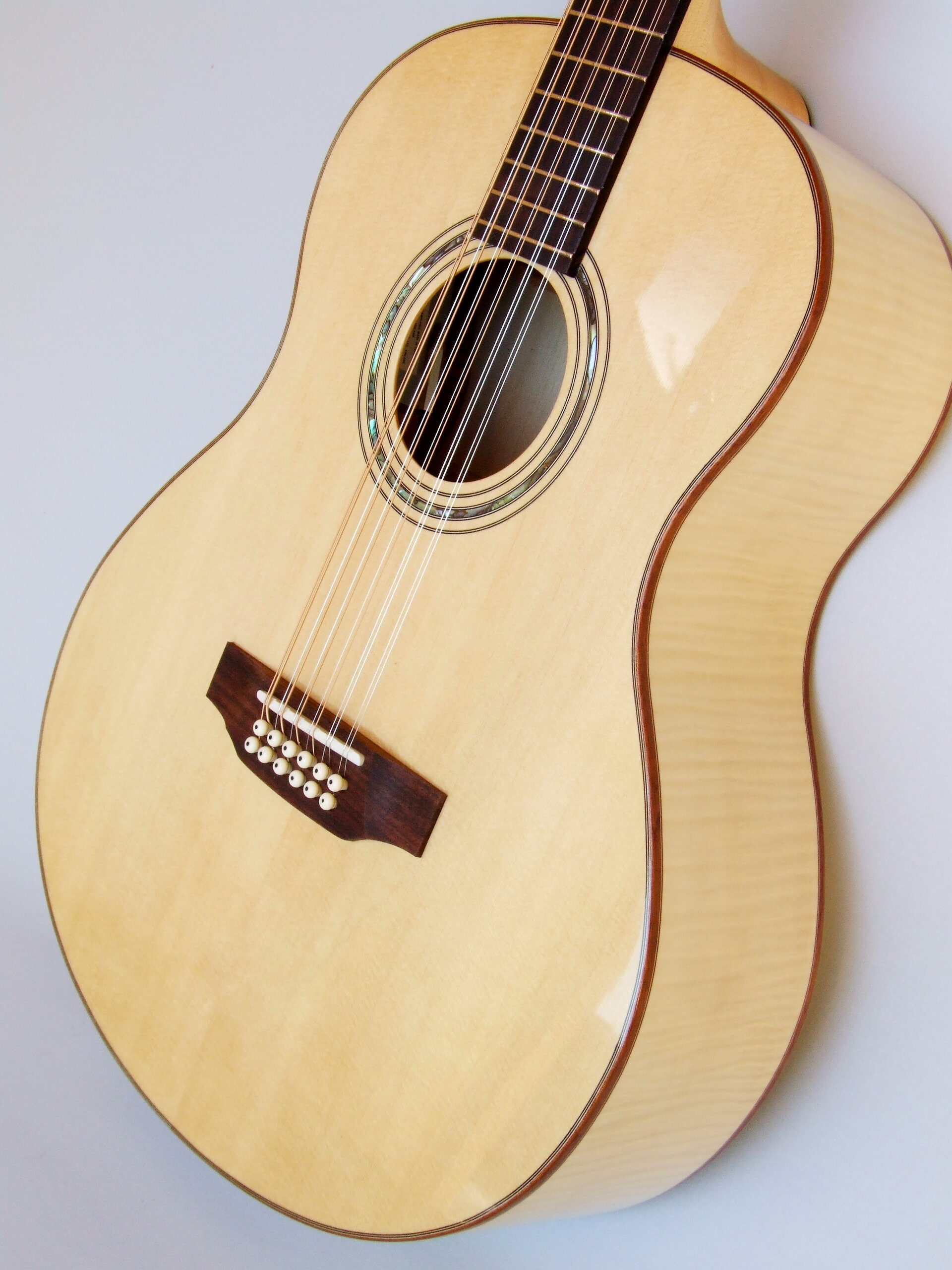 12-string maple bodied guitar by Trevor Gore