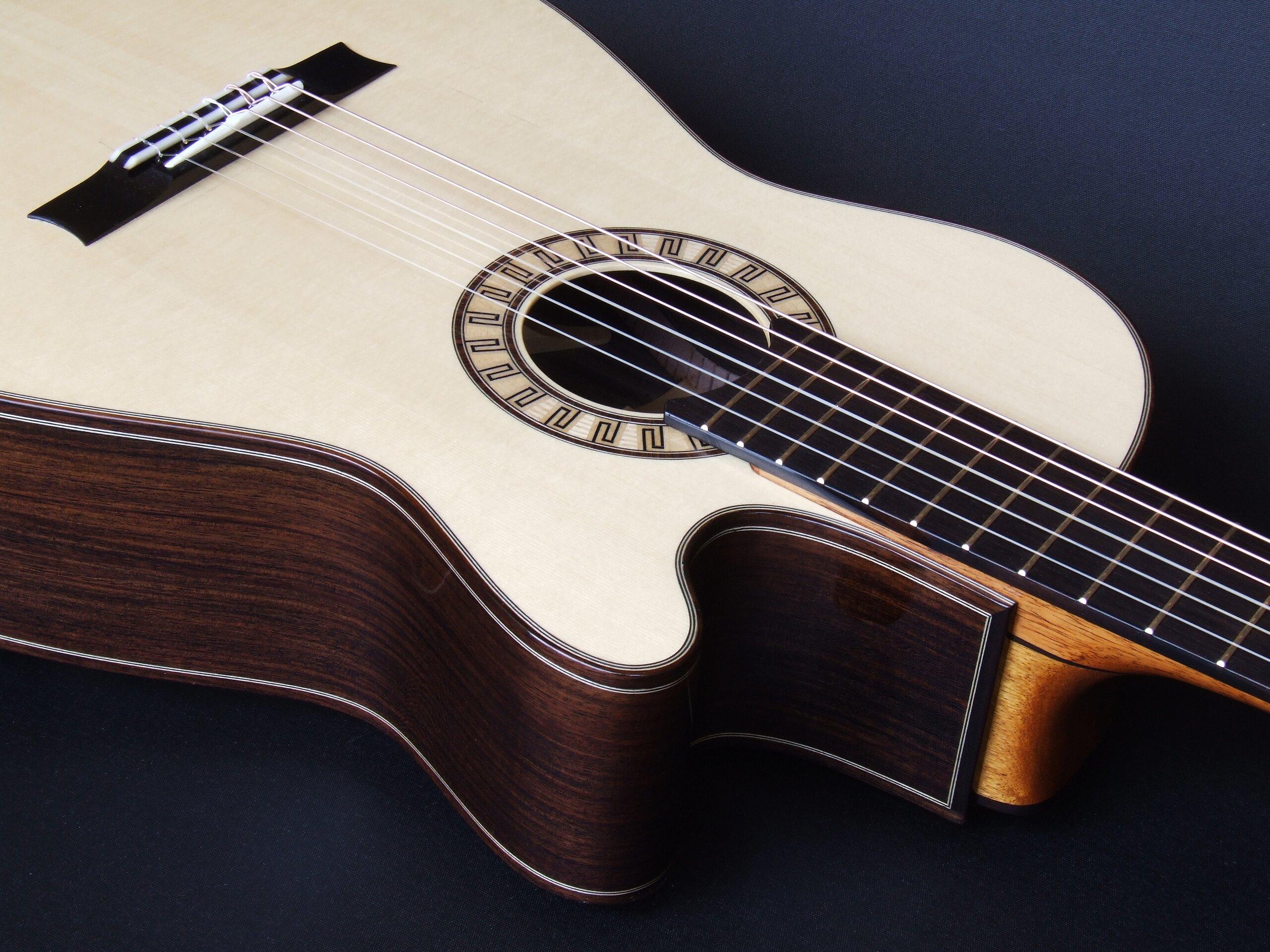 Gore smallbody cutaway tilt-neck classical guitar