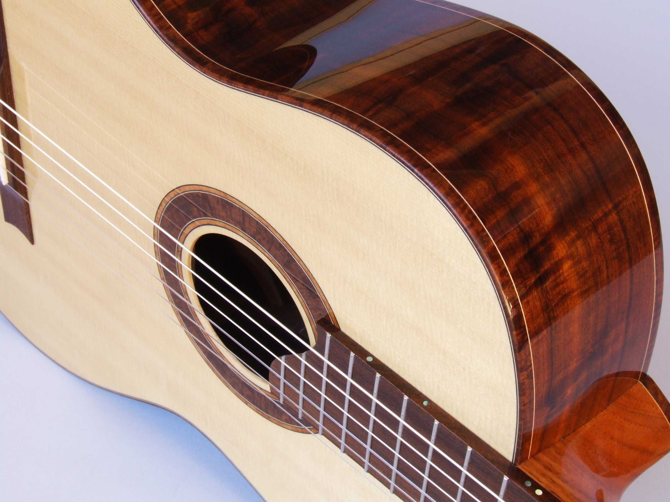 Spruce topped Gidgee classical guitar