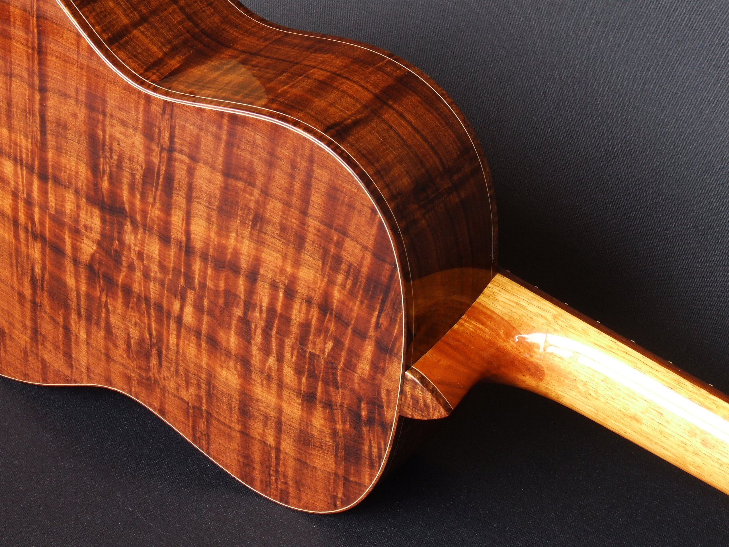 Trevor Gore classical guitar with figured gidgee back and sides