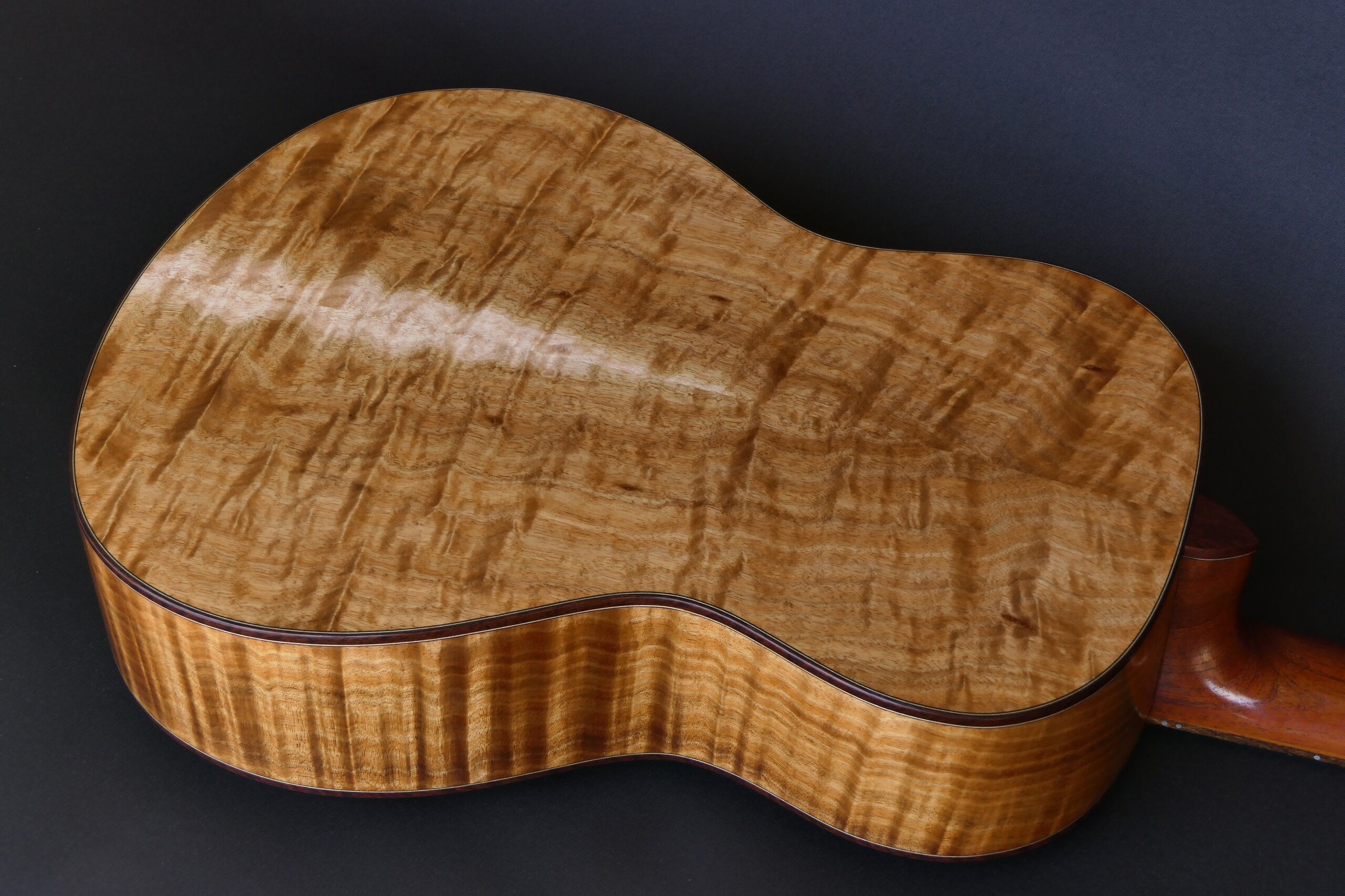 Flamenco guitar with figured blackwood back and sides