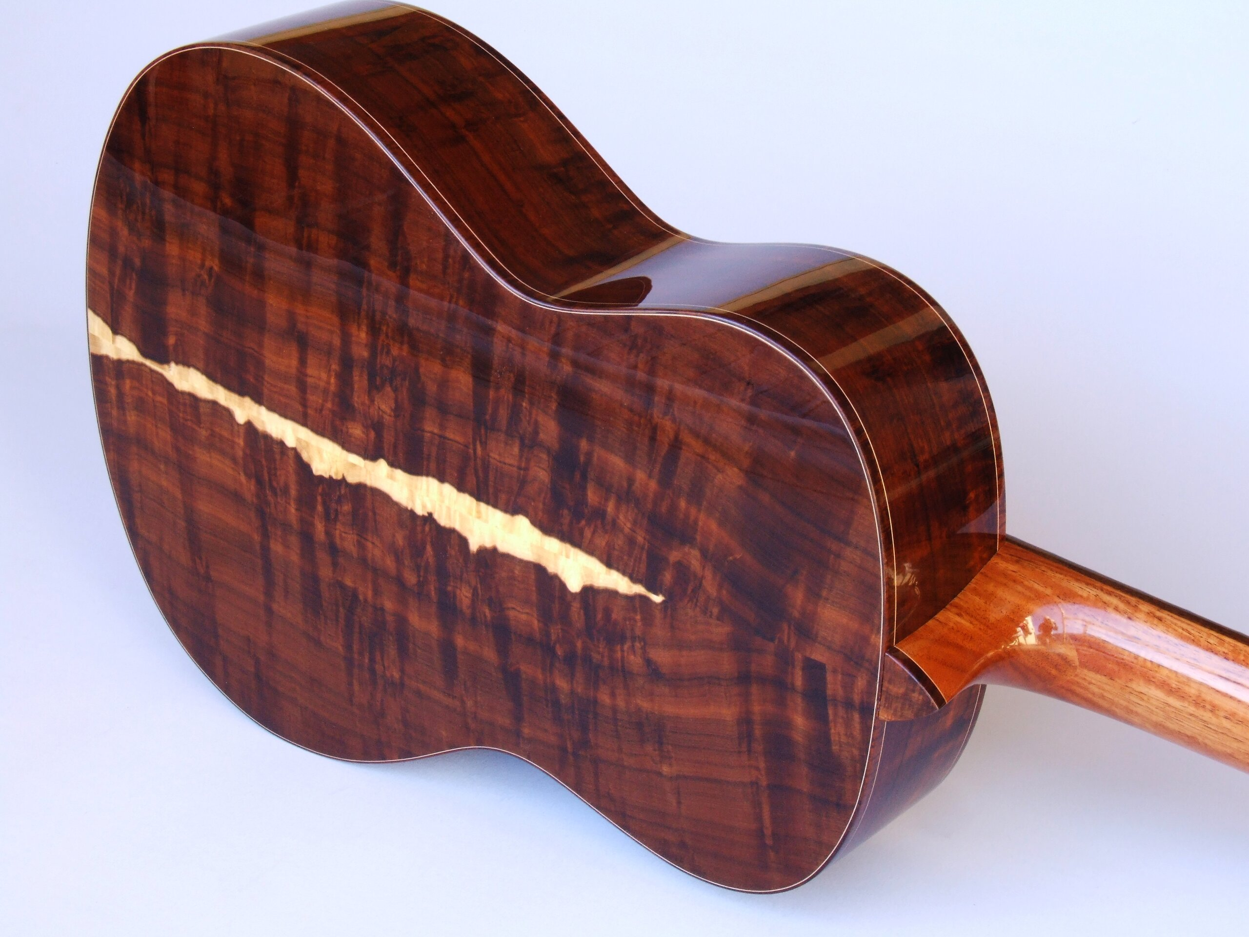 Classical guitar, gidgee back and sides with sapwood centre